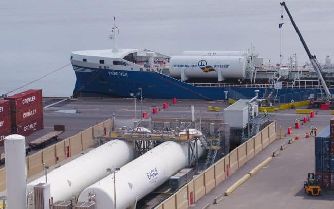Furetank, Eagle LNG and GAC Achieve Historic LNG Bunkering In The U.S.  Fure Ven