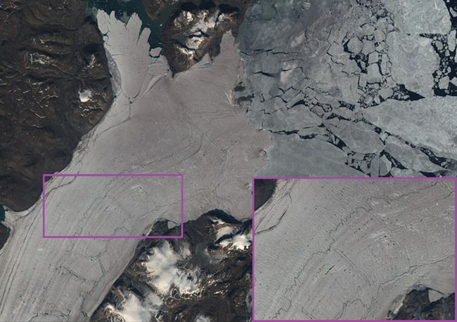 Glacier Disintegration At The Arctic's Largest Remaining Ice Shelf