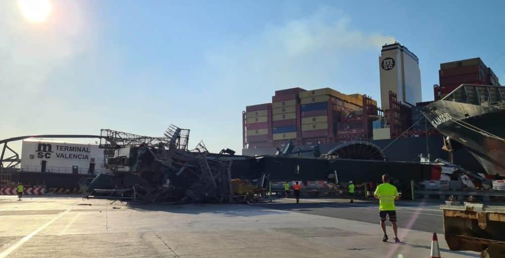 MSC's 23,756 TEU Giant Took Down Crane In Valencia, Spain MSC Mia