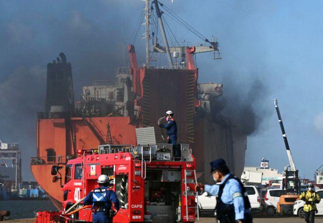 Russian Ro-Ro Ship catches Fire