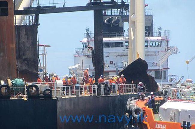 Salvage Operation Of Fire Stricken Oil Tanker 'MT New Diamond' Begins