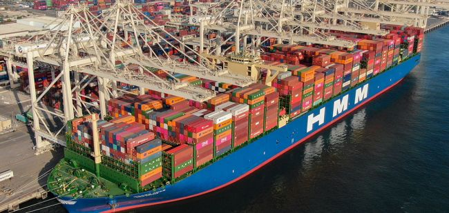 World Biggest Container Ship Maiden Voyage To Jebel Ali Port
