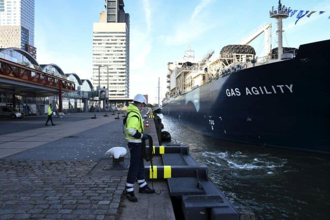 World's Largest LNG Bunkering Vessel Arrives In Rotterdam_