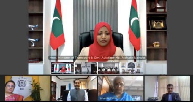 direct cargo service started between india and maldives _ video conference