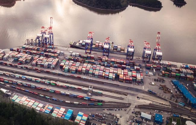 prince rupert port aerial view