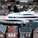 Breathtaking Video Of Superyacht Passing Through Narrow Dutch Waterways