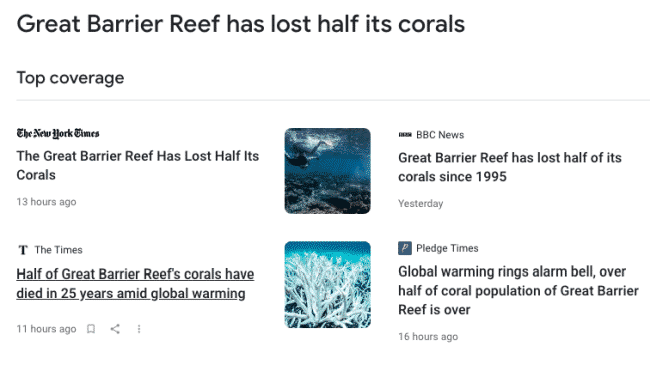 Claims Of Dramatic Loss Of Great Barrier Reef Corals Are False