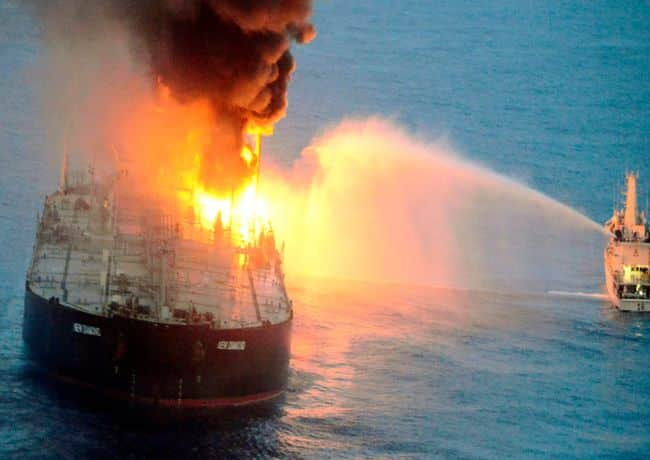 Explosion on Russian Tanker