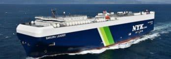 Japan's First LNG-Fueled PCTC Delivered - NYK Sakura Leader -