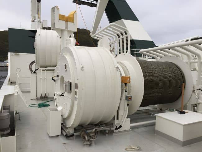 Kongsberg Maritime's EasyDrive electric trawl winch, installed on board the stern trawler Granit