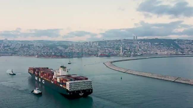 MSC Container Ship Marks First UAE Cargo Shipments To Israel After Peace Accord
