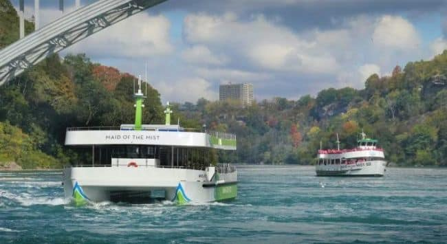 Maid of the Mist launches all-electric vessels, the first of their kind in the U