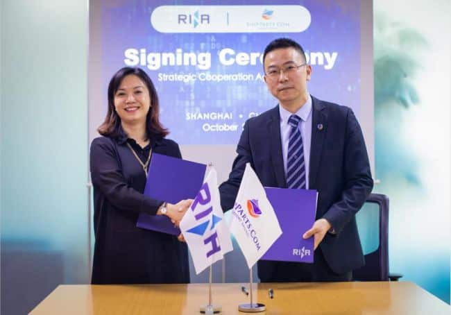 Ms. Kelly Huang, Commercial Director, Greater China for RINA. and Mr. Leo Liu, Chief Operating Officer for ShipParts.com.n