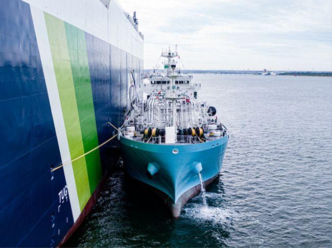 Sakura Leader - Kaguya Conducts Japan's First Ship-to-Ship LNG Bunkering -