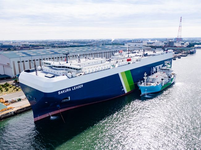 Sakura Leader - Kaguya Conducts Japan's First Ship-to-Ship LNG Bunkering