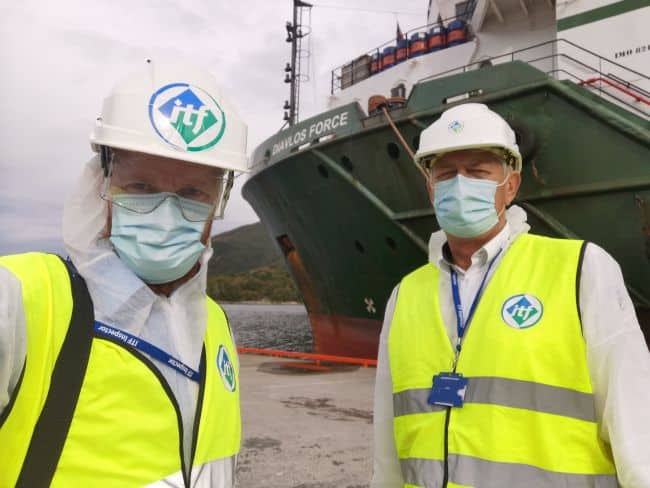 When the MV Diavlos Force arrived in Norway, ITF Inspectors were ready and waiting
