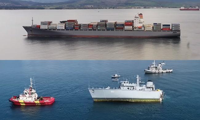 maersk-launceston-collision-with-greek-navy-vessel