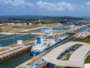 ship transiting panama canal in 2020
