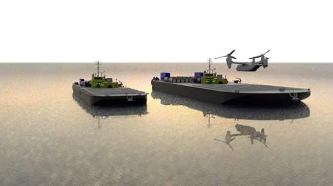 prototype that will enable commercial ocean-service U.S.-flag barges as autonomous Forward Arming and Refueling Point (FARP) units for an Amphibious Maritime Projection Platform (AMPP)