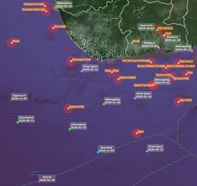 10 Crew Members Kidnapped From Cargo Ship In The Gulf of Guinea