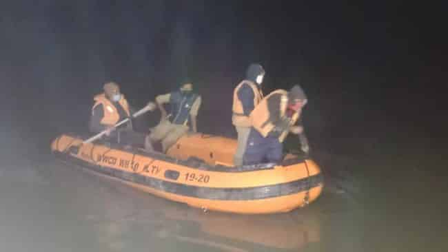 8 Trucks Slide From Cargo Vessel And Sink Into River Ganga, 2 People Missing, Rescue Missions Still Underway