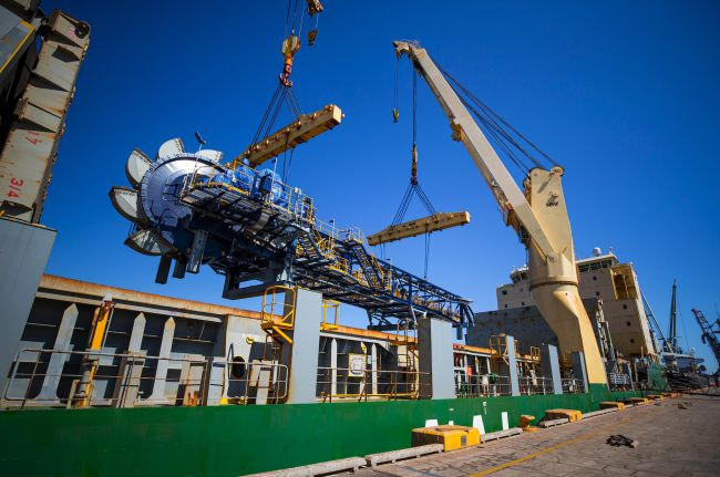 Cargo comprised of multiple components of which the heaviest was just over 230t and, the longest, 40m in length