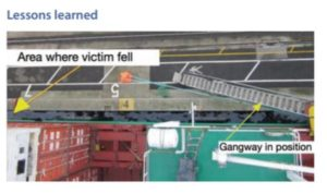Ignoring the gangway proves fatal