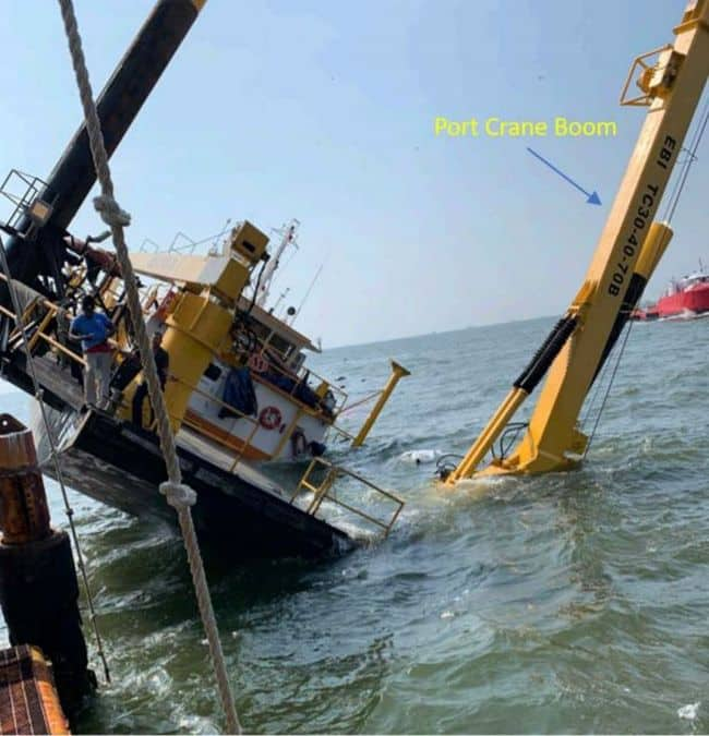 Inadequate Preload Procedure Caused Vessel to Overturn