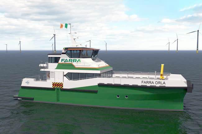 Ireland's-First-Catamaran-Wind-Farm-Service-Craft-Under-Construction