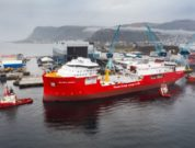 Cable laying vessel Nexans Aurora at Ulstein Verft