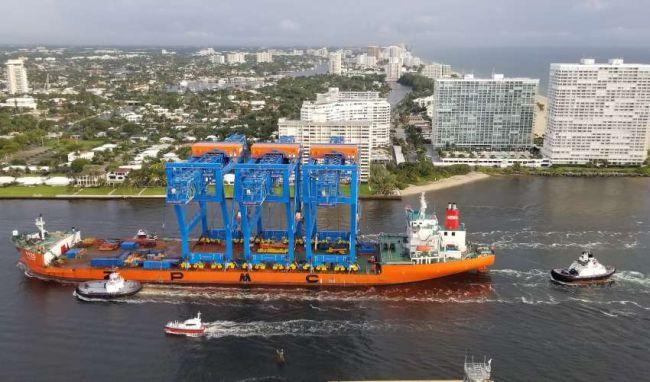 Port Everglades welcomes gantry cranes