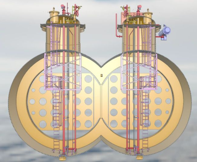 The bilobe tank has a capacity of 8000cbm and more than doubles the transportation capacity of liquid CO2 over