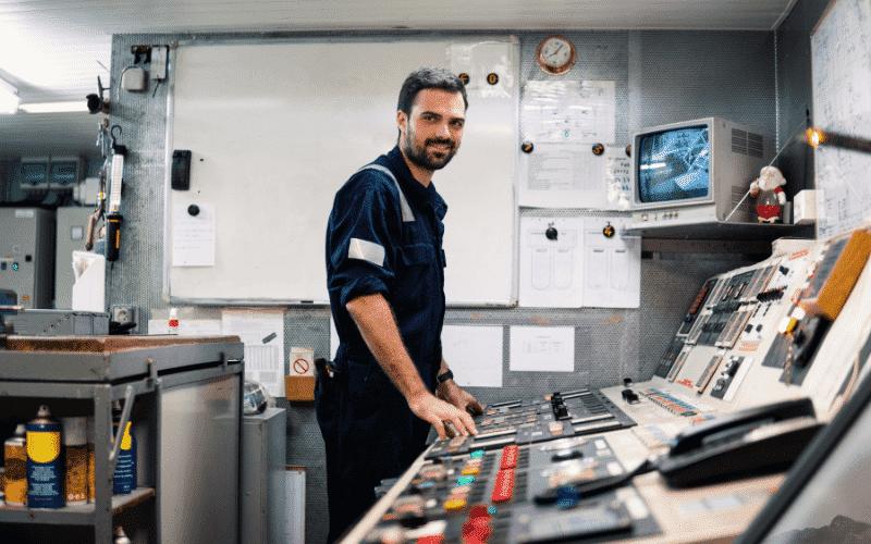 marine engineers engine room