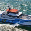 Hydrogen powered crew changing vessel