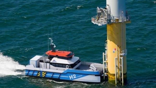 piriou ctv-h2 Hydrogen powered crew changing vessel