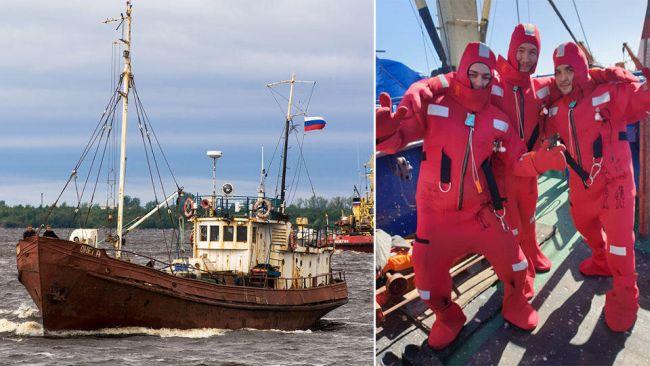 Онега - Onega - fishing trawler vessel sinks, 17 missing