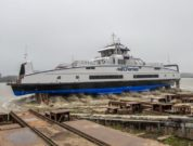 BC Ferries' fourth Island Class vessel launches at Damen Shipyards Galati in Romania.