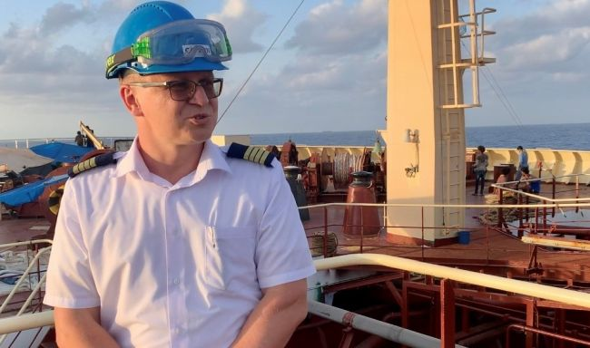 Captain Volodymyr Yeroshkin was the captain of Maersk Etienne, caught in a 38-day long political stalemate after rescuing 27 persons in distress off the coast of Malta