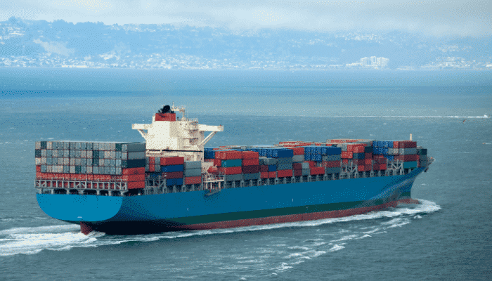 Container ship tracking