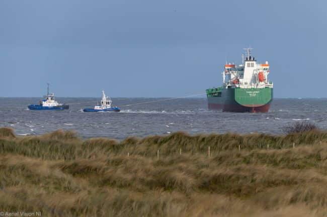 Grounded Oil Tanker In Belfast Refloated -1