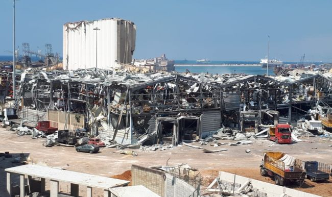 ITF Dockers solidarity helps Beirut port rebuild - blast