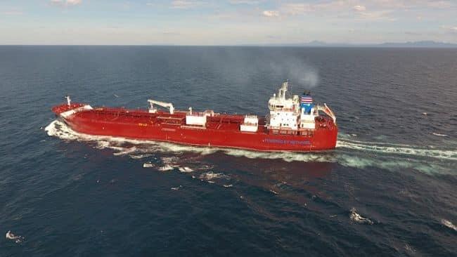 methanol-fueled chemical tanker