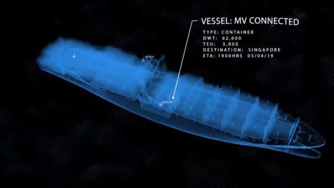 MV connected - the signal ship - sensors connected IOT