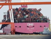 ONE Apus Docked at Kobe Port japan