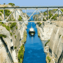 The Corinth Canal A Narrow Man-Made Shipping Canal