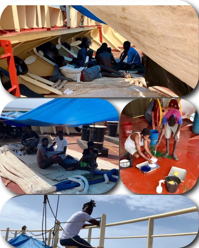 The ship's 24-member capacity was not designed to accommodate an additional 27 persons for a prolonged period of time