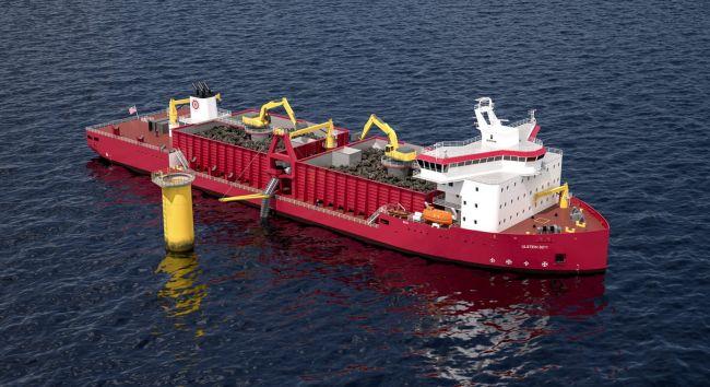 Ulstein-designed-GLDD-subsea-rock-installation-vessel- First Jones Act Compliant US offshore wind closeup