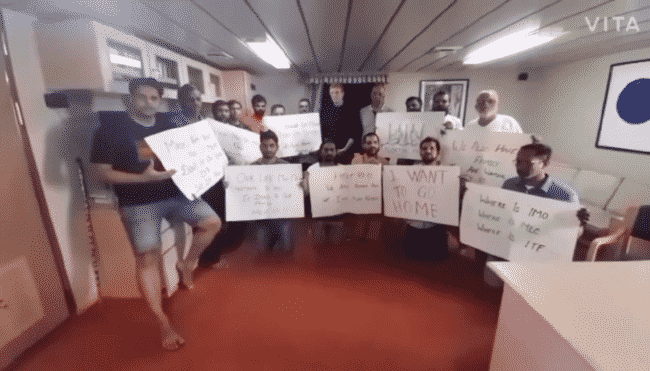 seafarers stranded between australia china trade war