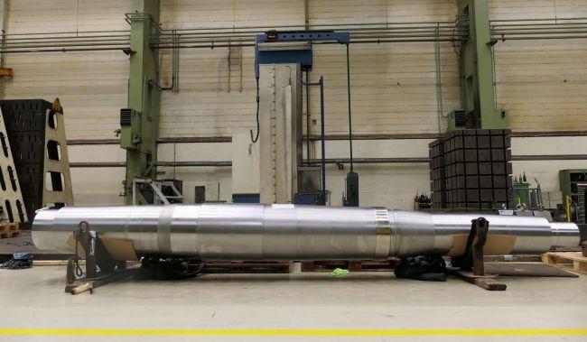 new rudder stock for starboard rudder