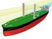 300k VLCC wing sail streamlines KSOE